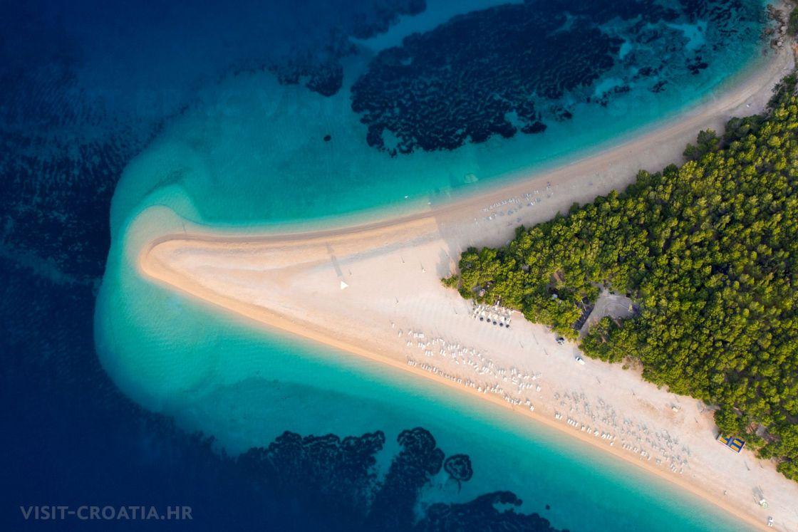 Beach Zlatni Rat Bol Island Brač