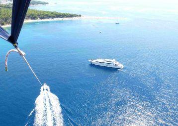 Water sport activities, parasailing, tube, flying banana...